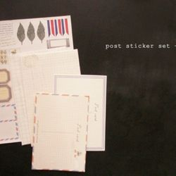 post sticker set-C