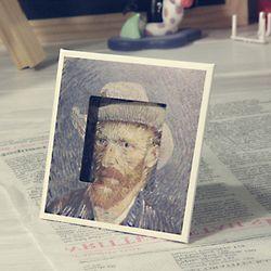명화 스탠드카드-고흐 모자를 쓴 자화상