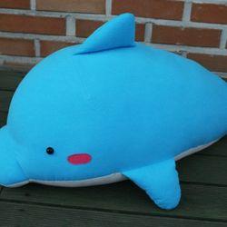 돌고래쿠션(블루)