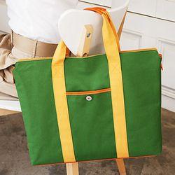 Canvas Brief bag - green
