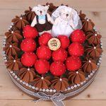 웨딩 초코 케익 만들기(솜포함)