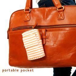 portable pocket (coral)