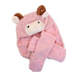 양(핑크) 장갑 동물 모자