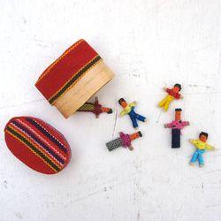 과테말라 꼬마 걱정인형 6명 상자세트