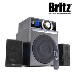 브리츠 스피커 BR-4900T5 Plus (2.1채널 . 정격출력 53W . 무선리모컨 . 라디오기능 . AUX . 독립형앰프)