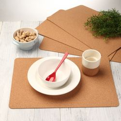 식탁용 코르크 매트(직사각형):4개1세트