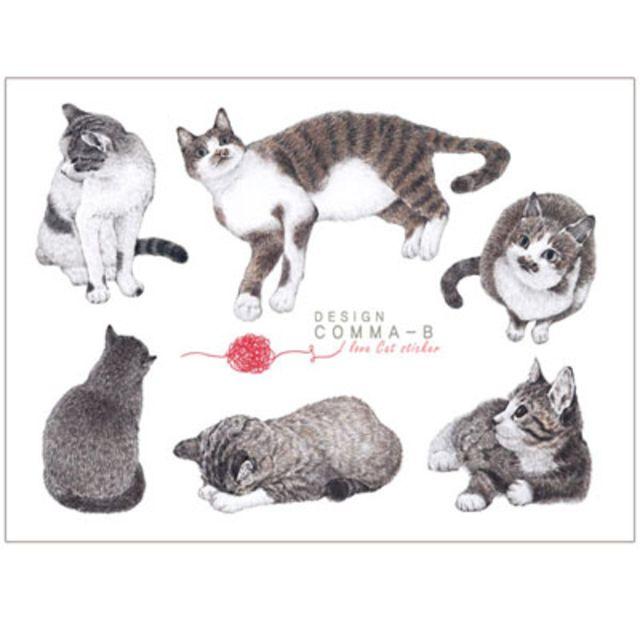 I Love Cat Sticker, 2sheets