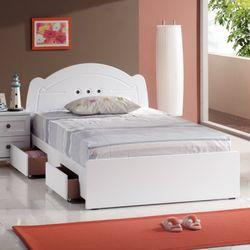 [젠키즈침대] 벨다 서랍형 싱글 침대 매트리스 (착불) 인기상품