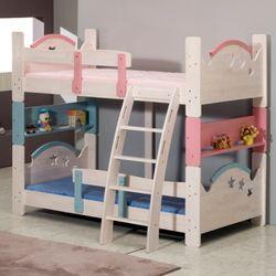 [젠키즈침대] 하트스타 원목 이층 싱글 침대 매트리스 (착불) 인기상품