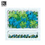 EK Success 스크랩북킹 꾸미기 꽃장식클립보드(Flowers & Brads) K&C 565630