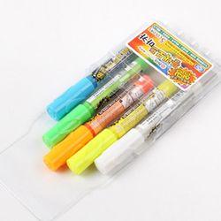 K동아연필5색 네온보드형광마카