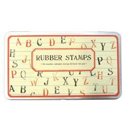 Cavallini 스탬프세트-Rubber Stamps(대문자)