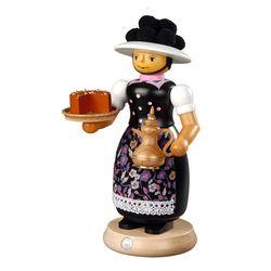 스모킹맨  케익과 뜨거운 커피를 준비한 여인 25Cm - 16642