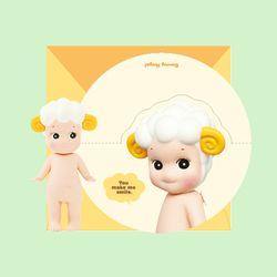 CIRCLE MESSAGE CARD-sheep