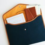 A4 CANVAS POUCH ver.2 - navy blue