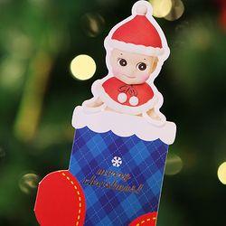 Christmas stocking card - santa