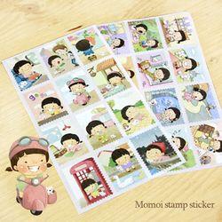 모모이 우표 스티커