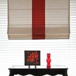 조지아Mix로만쉐이드(Red&Ivory)