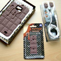 갤럭시S2 초콜렛 케이스&이어폰 Set