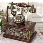 금장 에나멜 사각 전화기