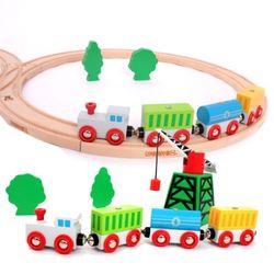 짐보리 원목 기차세트 & 크레인 세트 22pcs