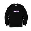 [알슨] 15200 arson SIMPLE1 LOGO LS TEE (BLACK-PURPLE)