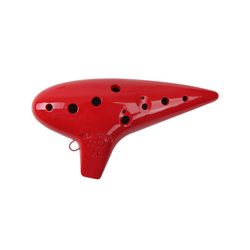 오카리나 Alto/C 보급형 (빨강)(오카리나용 가죽가방+운지표+스트랩)