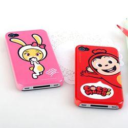 코코몽2 아이폰4/4S 핸드폰케이스(홈버튼7종세트포함)