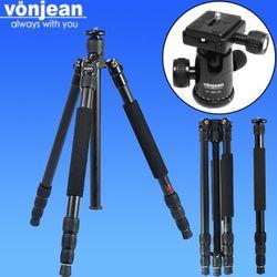 [Vonjean] VT-545Z-FX 트래블러 전문가용 4단 삼각대 + VD-283-QX 볼헤드 (DSLR 하이브리드 미러리스 등)