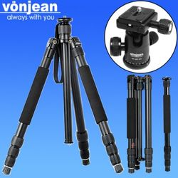 [Vonjean] VT-548Z-QX 블랙 트레블러 4단 삼각대 + VD-283-QX 볼헤드 (DSLR 하이브리드 미러리스 등)