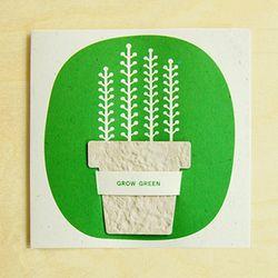 FLOWERPOT CARD - cream