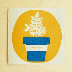 FLOWERPOT CARD - teal