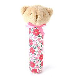 패치워크 곰돌이 삑삑이 Pink