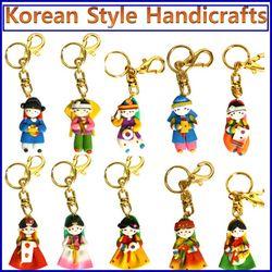 한국전통 칼라믹스 열쇠고리셋(10개묶음)