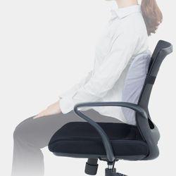 [라텍스등쿠션+그레이] 의자 사무실 차량용 허리쿠션