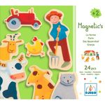 [드제코] 프랑스 감성 장난감 DJECO 나무자석퍼즐동물농장24pcs(DJ3110)