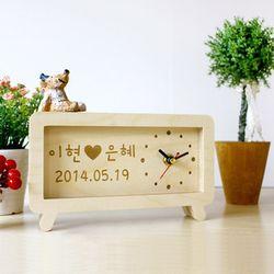 자작나무 이니셜 시계 러브유