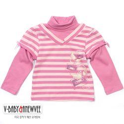 H-27433 작은 천사 레이어드 터틀넥 티셔츠 Pink