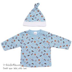 H-22171 Sports 별나라 모자+티셔츠 세트 Blue
