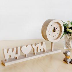 자작나무 이니셜 시계 땡글