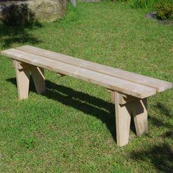 [파파나무]천연원목 1800일반형 벤치의자(3인무도색)