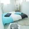 Cozy tri-color 챠콜그레이 블루민트 침구 [홑겹SS-A]