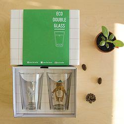 ECO DOUBLE WALL GLASS gift set - arctic