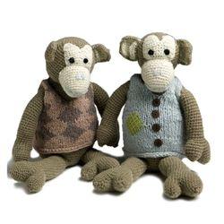 Monkey Boy & Girl Set