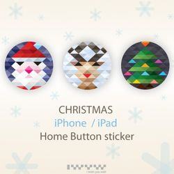 Christmas Home Button Sticker