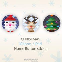 Christmas Home Button Sticker