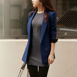 [AKA]tailored zipper jacket(blue)