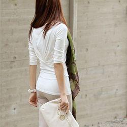 back drape tee