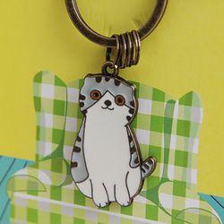 이지캣 마스코트 스틸 키링(귀여운 고양이 열쇠고리)