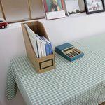 민트체크 테이블 커버(L 사이즈: 105cmx175cm)
